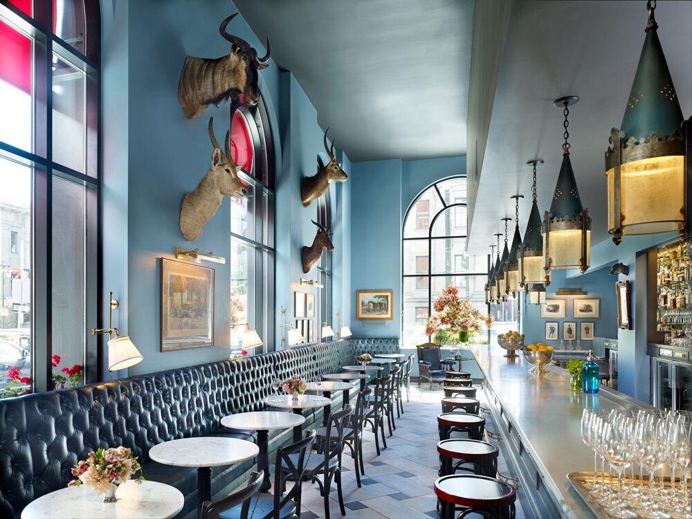 The blue bar at The Cavalier