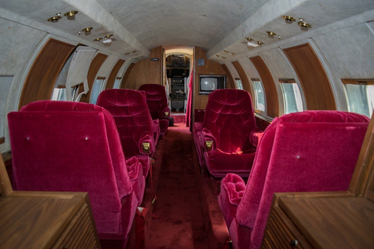 The plush, all original, interior, designed by Elvis himself