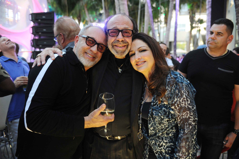 Emilio Estefan, Bernie Yuman, & Gloria Estefan