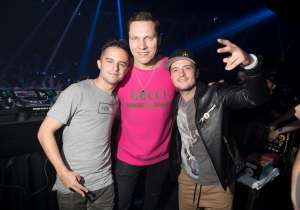 Connor Hutcherson, Tiesto and Josh Hutcherson at Hakkasan.