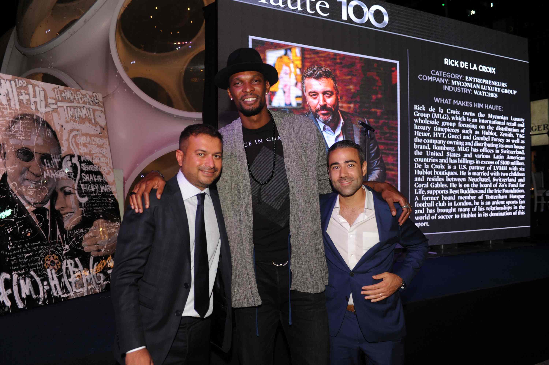 Kamal Hotchandani, Chris Bosh, & Jean-Francois Sberro
