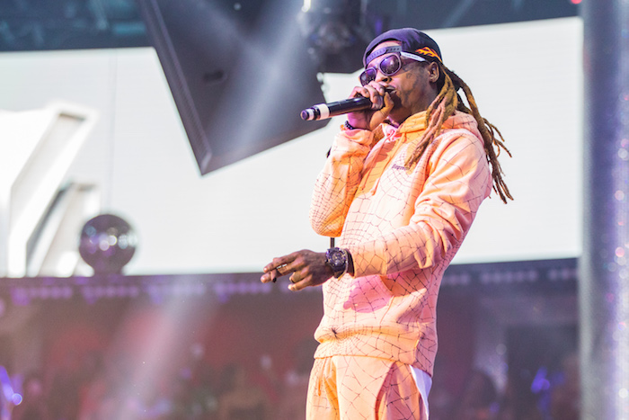 Lil Wayne performs at Drai's Nightclub.