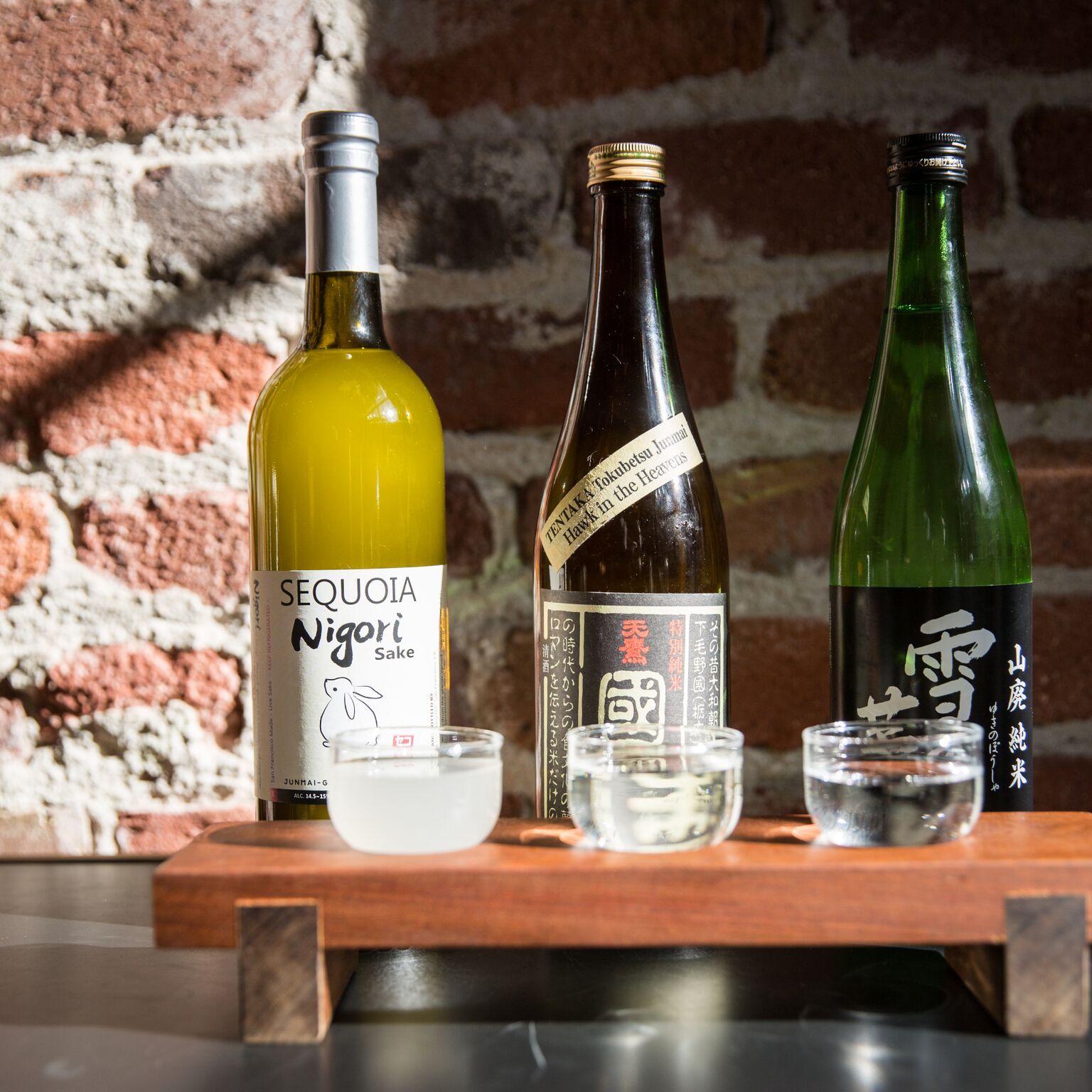 A sake tasting at Onsen