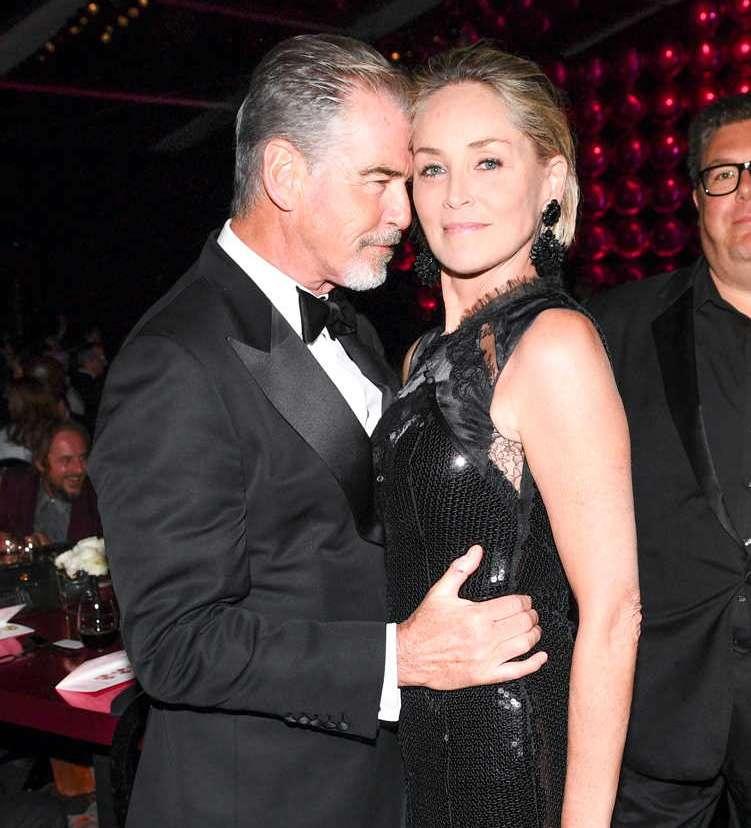 Pierce Brosnan and Sharon Stone