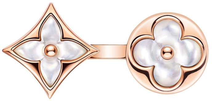 Q9J81BK RING PINK GOLD WHITE MOTHER-OF-PEARL $3600