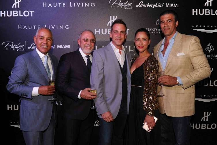 Reginald Sperling, Emilio Estefan, William Vento, Violet Camacho, & Carlos Ponce