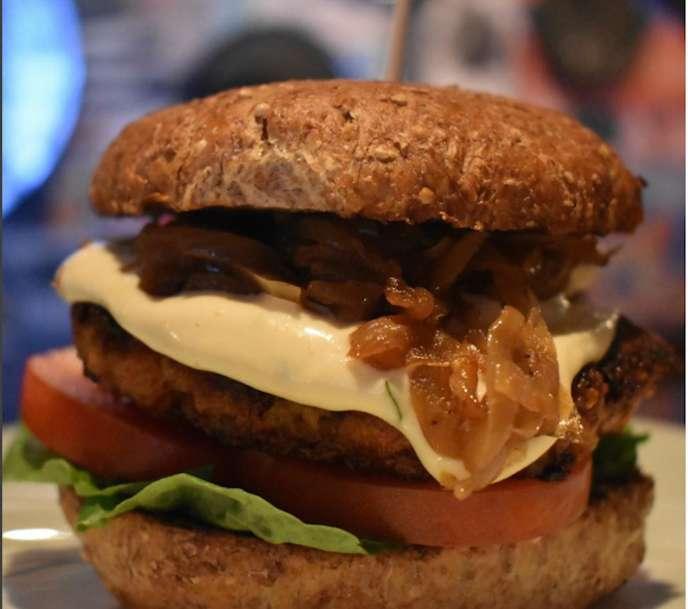 Grown Salmon Burger