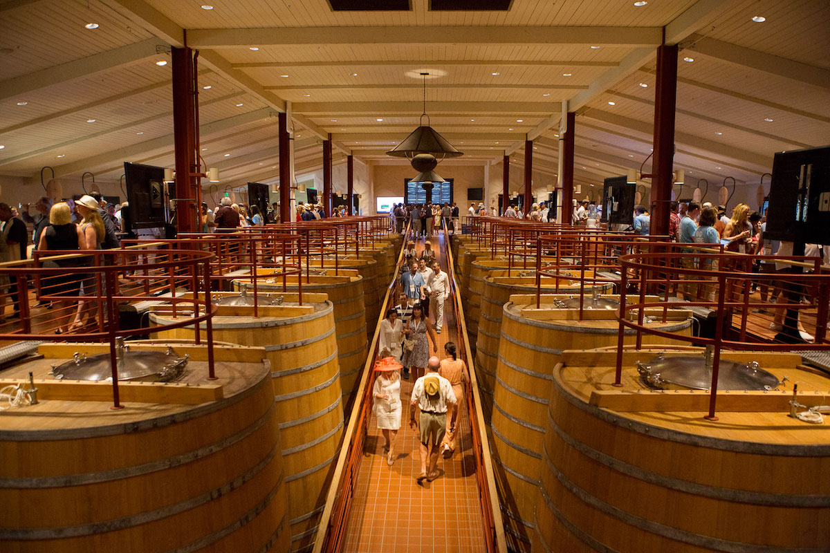 The Barrel Room at Robert Mondavi Winery, where the 2016 Friday event occurred.