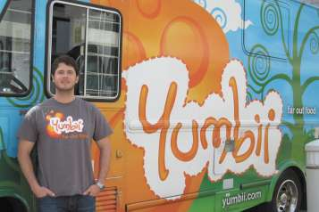 Carson Young with his food truck. Photo by Kaya Robins
