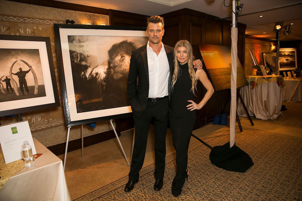 Duhamel and his wife, Fergie, at a WildAid charity event.