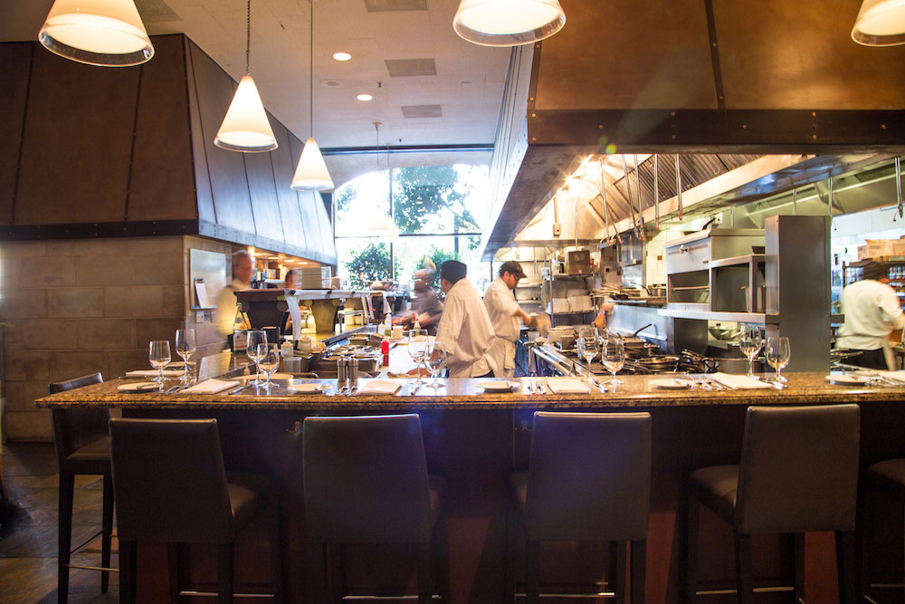 The open kitchen at One Market