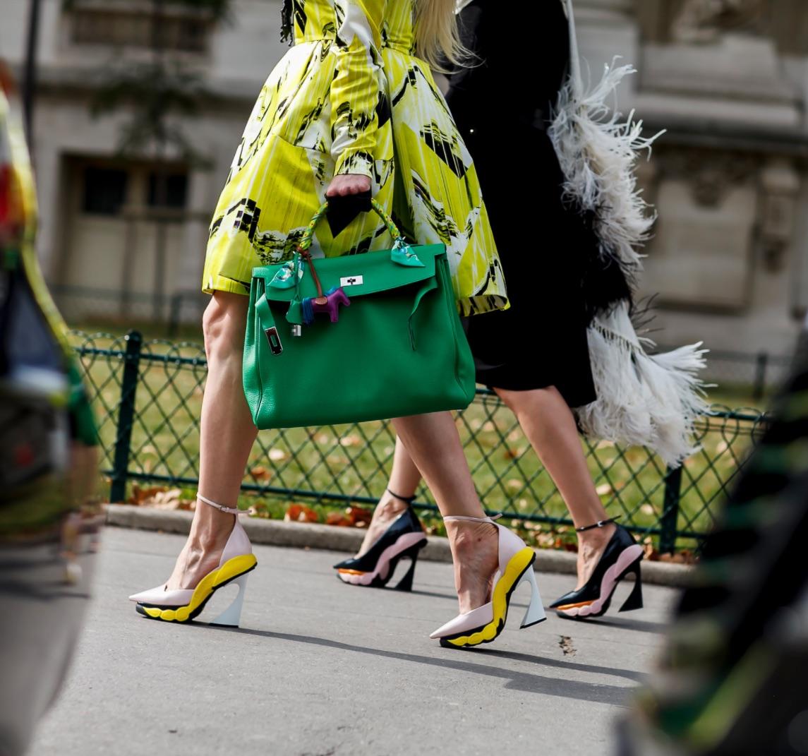 Molodetskaya and Zarate at Paris fashion week