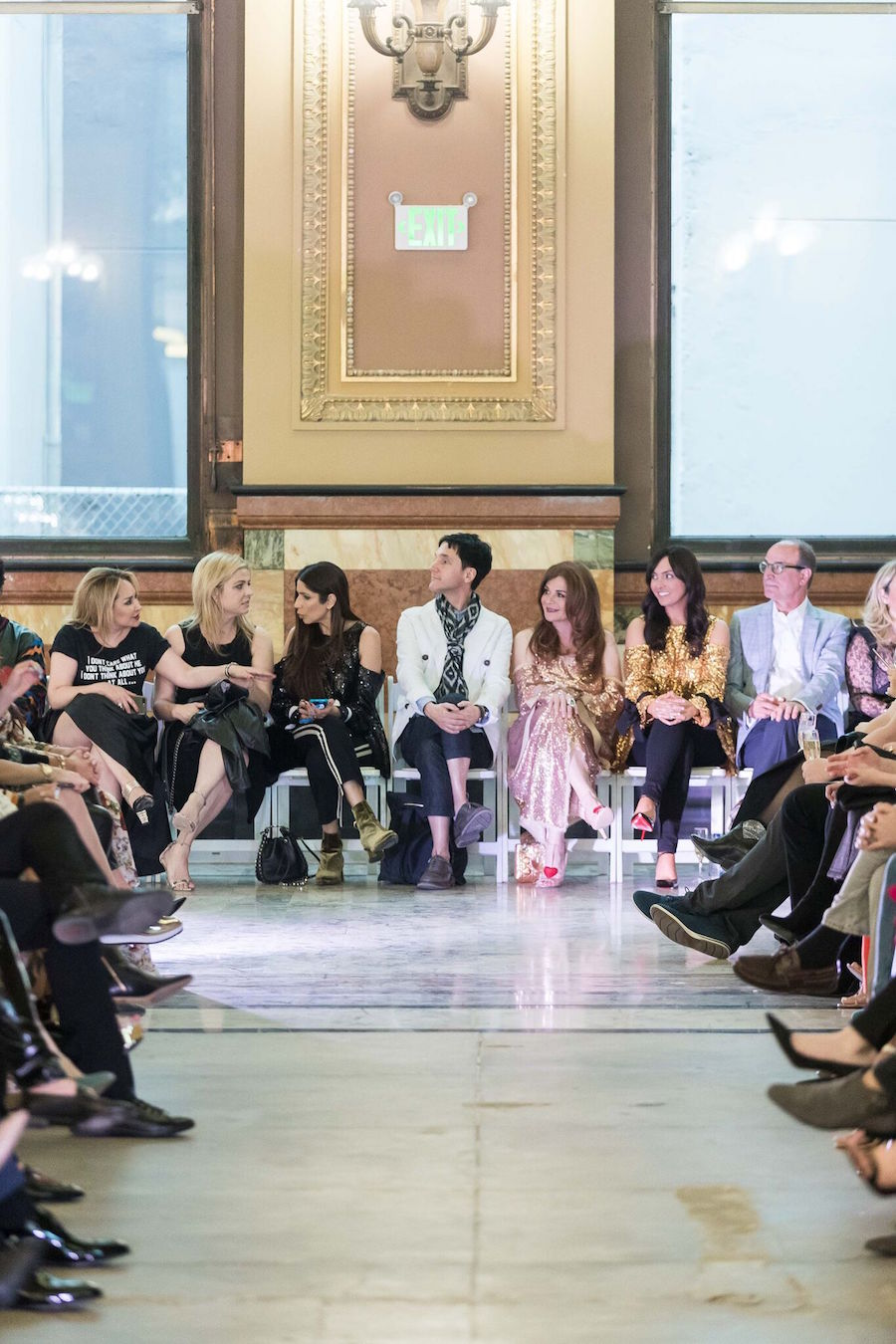 The front row awaits the Major Obsession fashion show