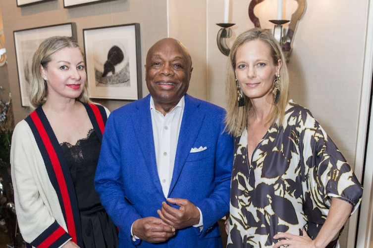 SAN FRANCISCO, CA - June 15 -  Sonya Molodetskaya, Willie Brown and Katie Traina attend Beboe Launch Cocktail + Dinner Party†Hosted by Zak and Alex Williams on June 15th 2017 at Private Residence in San Francisco, CA (Photo - Devlin Shand for Drew Altizer Photography)
