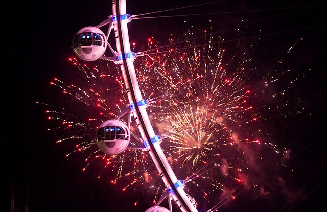 Fireworks at the Linq.