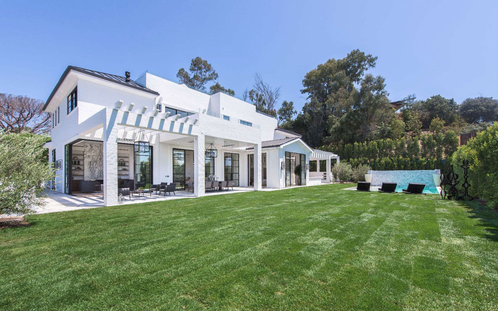 Brand-New Brentwood Spec Home With an Indoor-Outdoor Gym Is Going ...