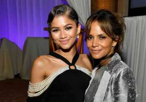 Zendaya (L) and Halle Berry