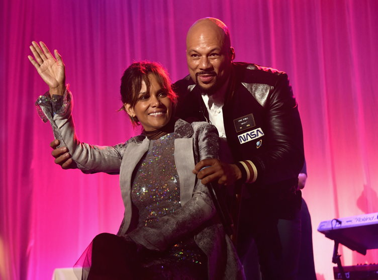 Halle Berry (L) and Common perform onstage at the 16th Annual Chrysalis Butterfly Ball