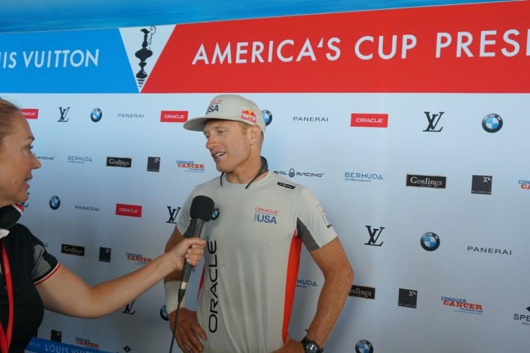A confident Jimmy Spithill.