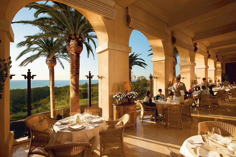 The terrace at Andrea at The Resort at Pelican Hill