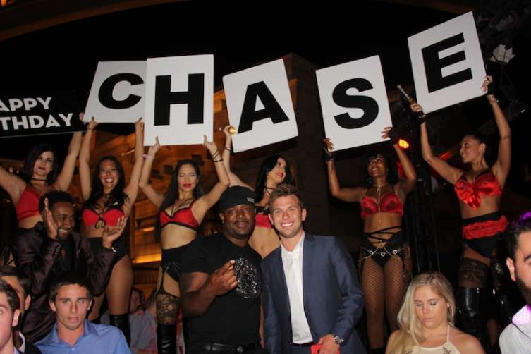 From left: DJ Nice and Chase Chrisley at Chateau.