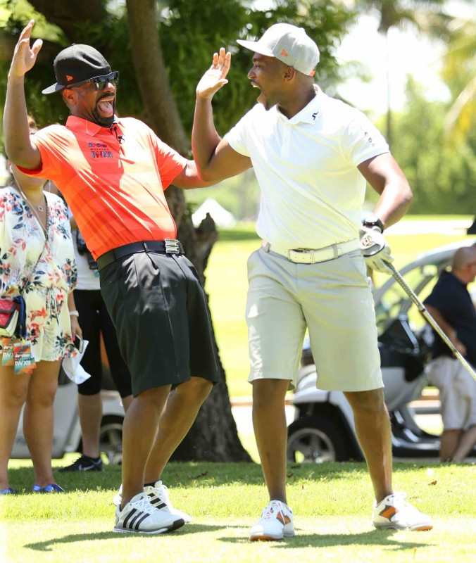 DJ IRIE & Anthony Mackie at Celebrity Golf Tournament 2016