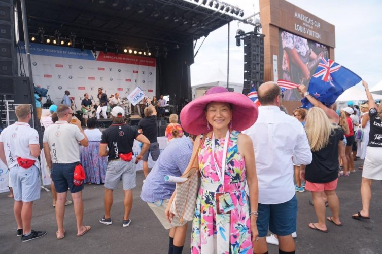 The America's Cup Village stage featured daily entertainment.