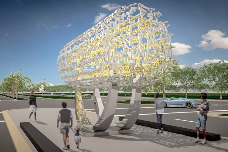Rendering of the Freedom Sculpture