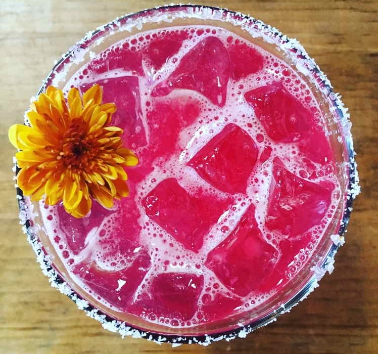 Hibiscus Rosewater Margarita at Cascabel