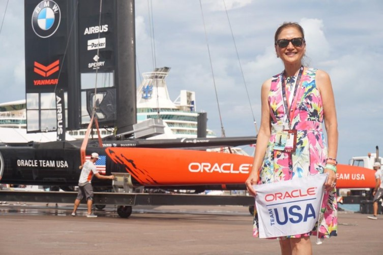 I bid farewell to Oracle Team USA boat.