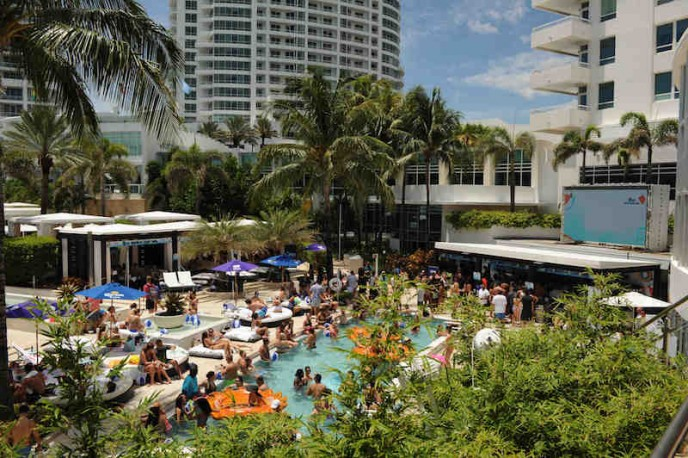 The I Heart Radio Y-100 Mackapoolooza Pool Party at The Fountainbleu.