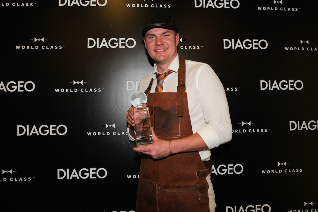 Marc McArthur, 28 of Norwegian Cruise Line has been crowned Diageo Global Travel's best bartender.