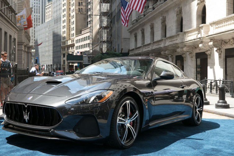 Maserati GranTurismo Model Year 2018 at NYSE_June 27 2017
