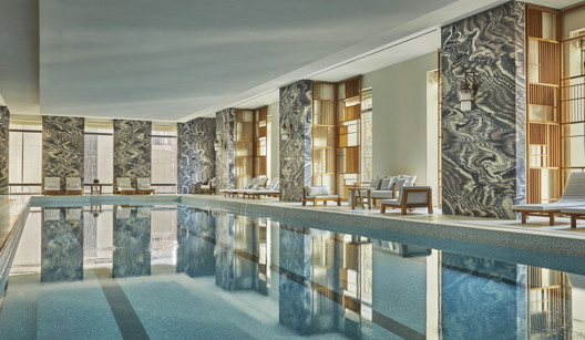 The pool at the Four Seasons Hotel New York Downtown. All photos: Courtesy of Four Seasons Hotels and Resorts/