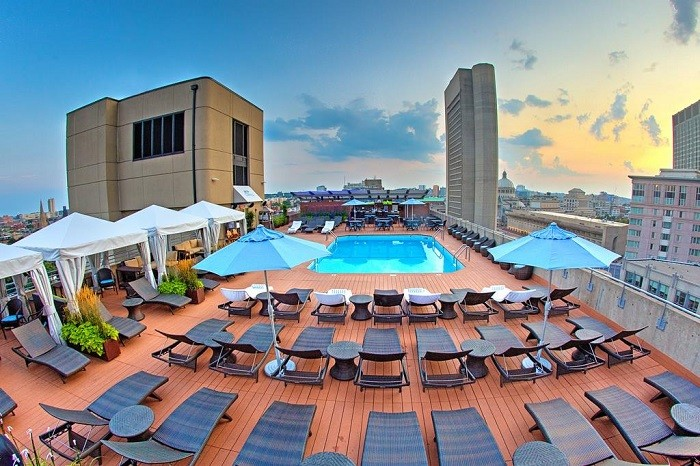 Roof Top Pool at The Colonnade Hotel