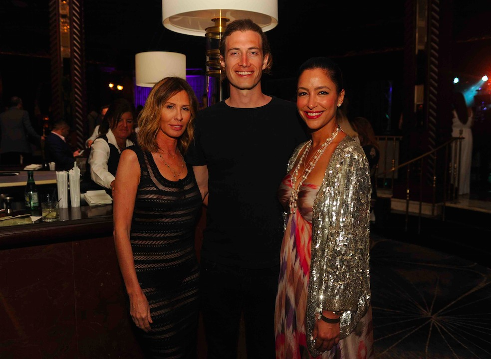 Carole Radziwill. Adam Kenworth and Violet Camacho