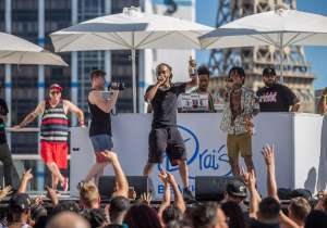 Swae Lee celebrates his 24th birthday at Drai's Beachclub.