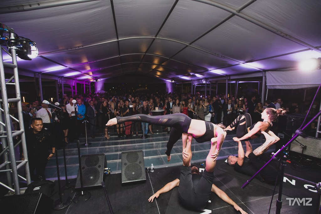 Acrobatic Performance at Brickell Heights