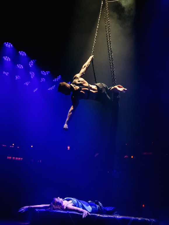 Jackson Williams performs 'air seduction' in Magic Mike Live