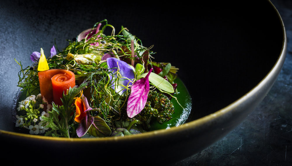 Into the garden, a dish prepared at Manresa