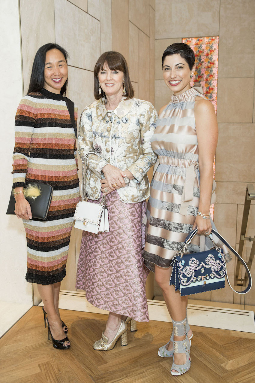 Carolyn Chang, Allison Speer and Chrisa Pappas Sioukas at the Fendi luncheon on July 18th