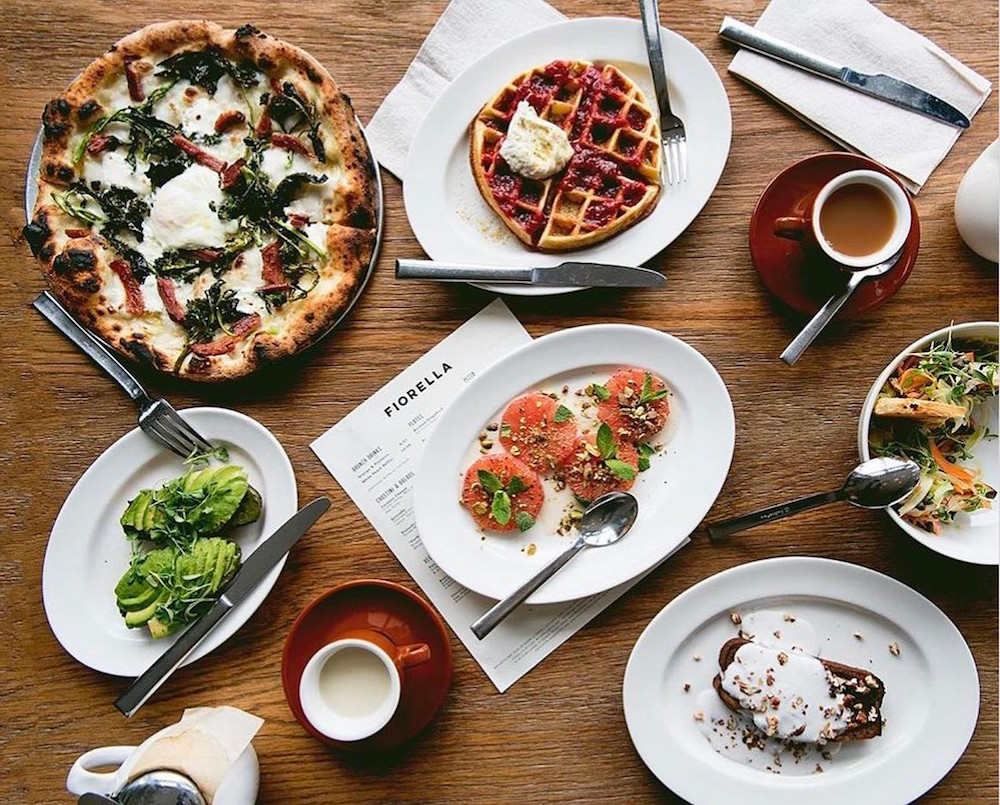 A brunch spread at Fiorella