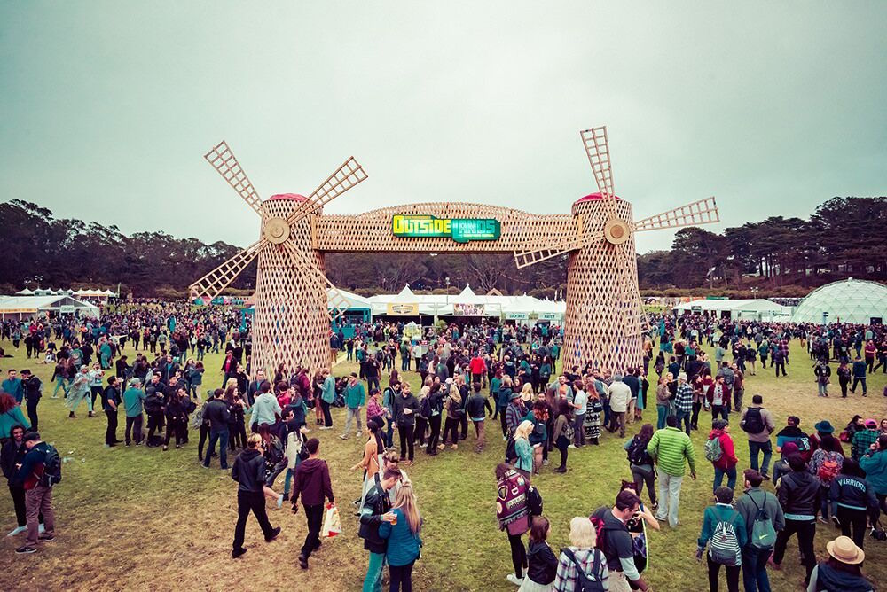 Windmills have become the iconic symbol of the Outside Lands music festival