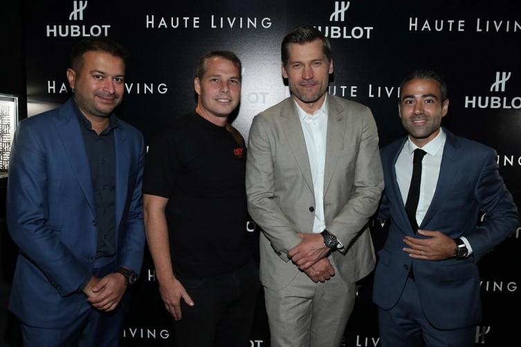 Kamal Hotchandani, Shepard Fairey, Nikolaj Coster-Waldau and Jean Francois Sberro