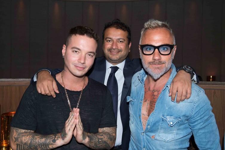 J Balvin, Kamal Hotchandani and Gianluca Vacchi