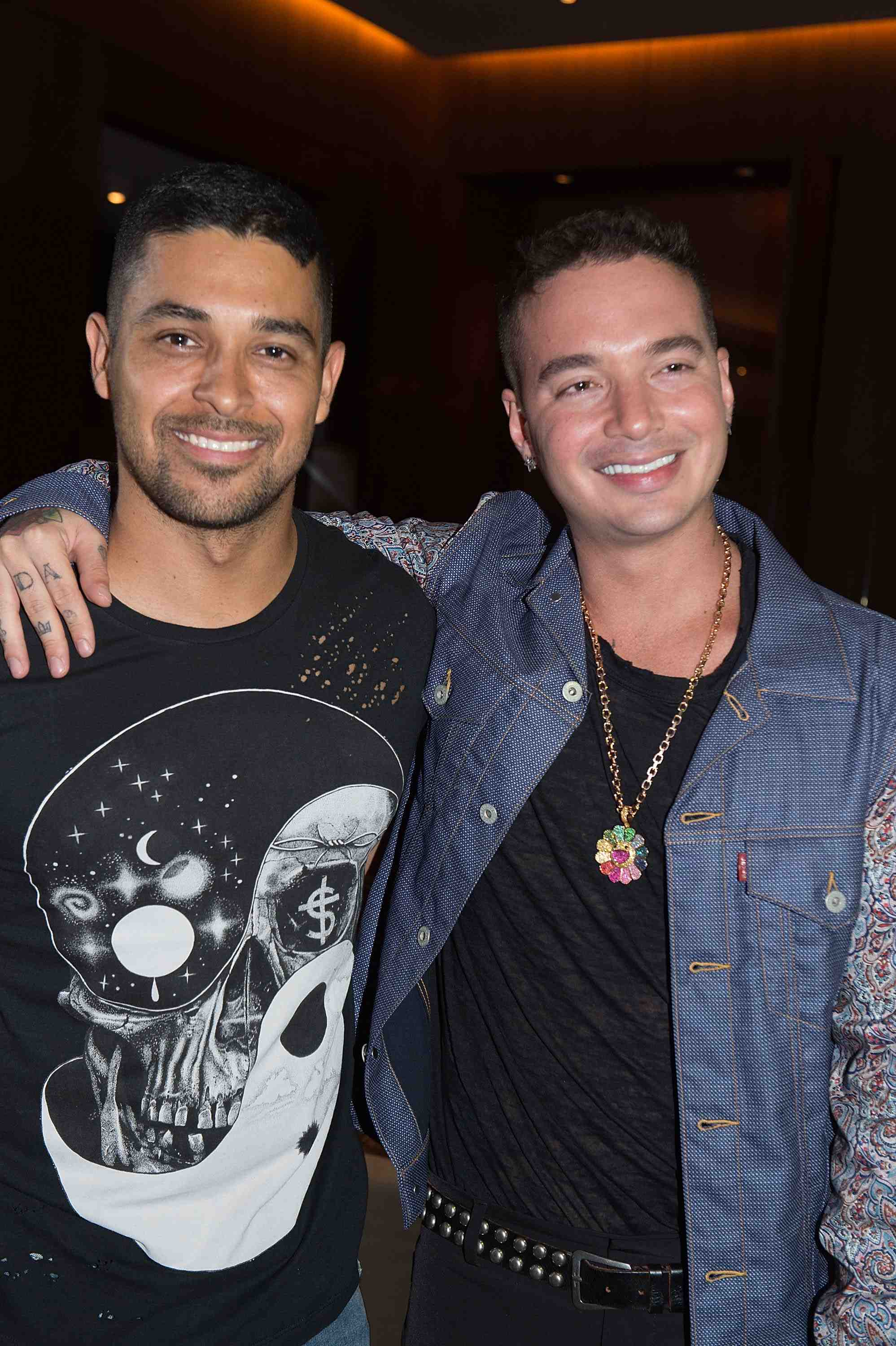 MIAMI BEACH, FL - JULY 05: J Balvin and Wilmer Valderrama attend Haute Living Celebrates J Balvin At Matador Room At The Miami Beach Edition With Buchanan's Whisky