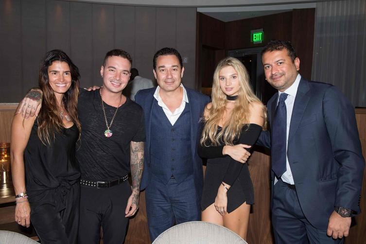 J Balvin, Chris Sariego, Polina Rossi and Kamal Hotchandani