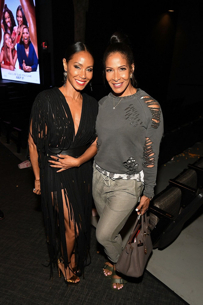 "ATLANTA, GA - JULY 11: Actress Jada Pinkett Smith and Sheree Whitfield at ""Girls Trip"" Atlanta special screening at SCADshow on July 11, 2017 in Atlanta, Georgia. (Photo by Paras Griffin/Getty Images for Universal Pictures)"