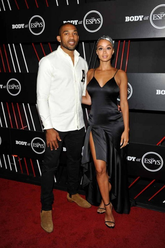NFL player Orlando Scandrick (L) and model Draya Michele