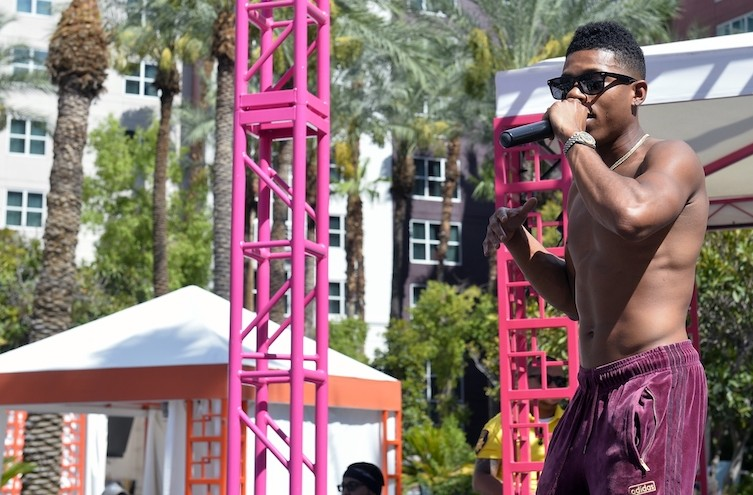 "Yazz ""The Greatest"" performs at the Flamingo GO Pool."